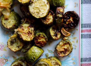 Roasted Courgettes and Garlic