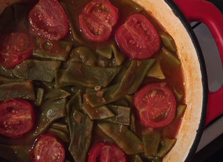 Green bean and beef stew - Etli taze fasulye