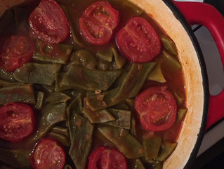 Greenbeanand beef stew - Etli taze fasulye
