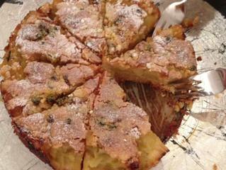 Apple and orange crumble tart