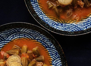Okra and beef stew