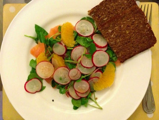 Zingy radish salad