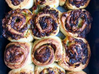 HomemadePesto for thecheese and pesto swirls