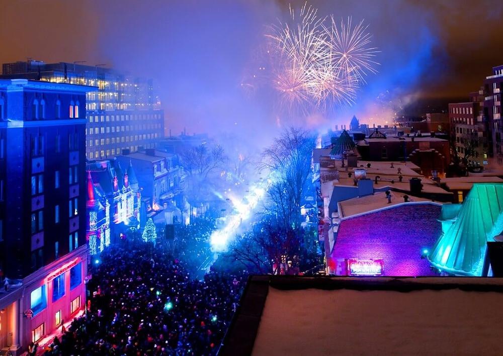 Le Nouvel An sur la Grande Allée