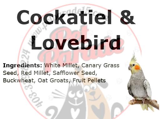 Cockatiel & Lovebird Mix no Sunflower