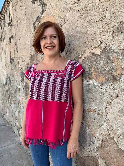 Blusa Rosa Mexicano