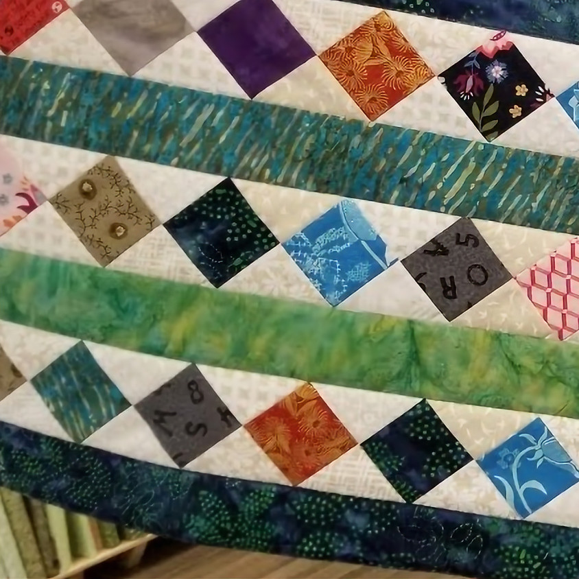 Scrappy Christmas Table Runner with Terry Lieberman