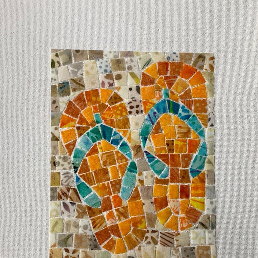 Craft and Carafe' Night with Cheryl Lynch - Fabric Mosaic on Canvas
