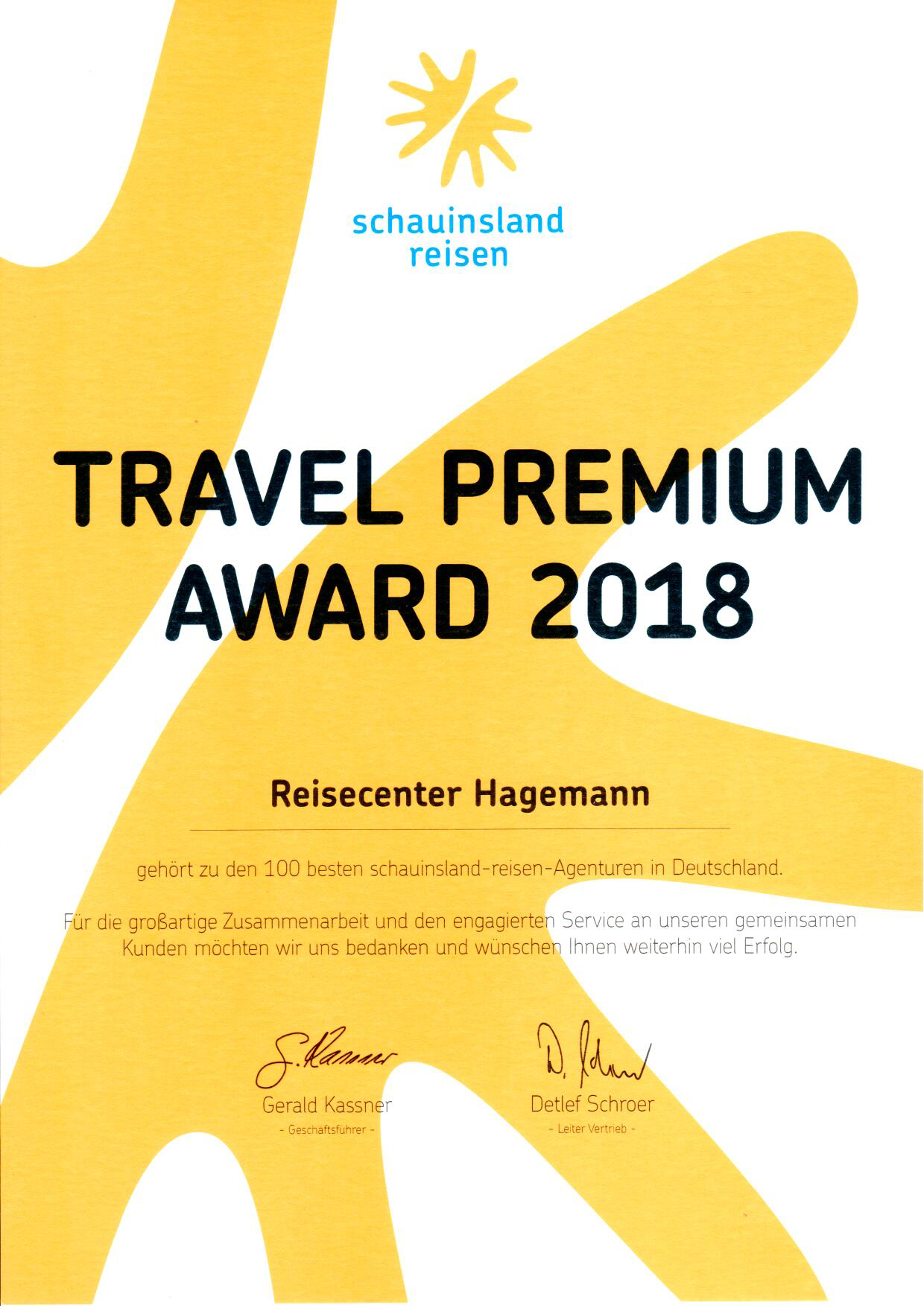 Travel Premium Award 2018