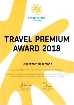 Travel Premium Award 2018