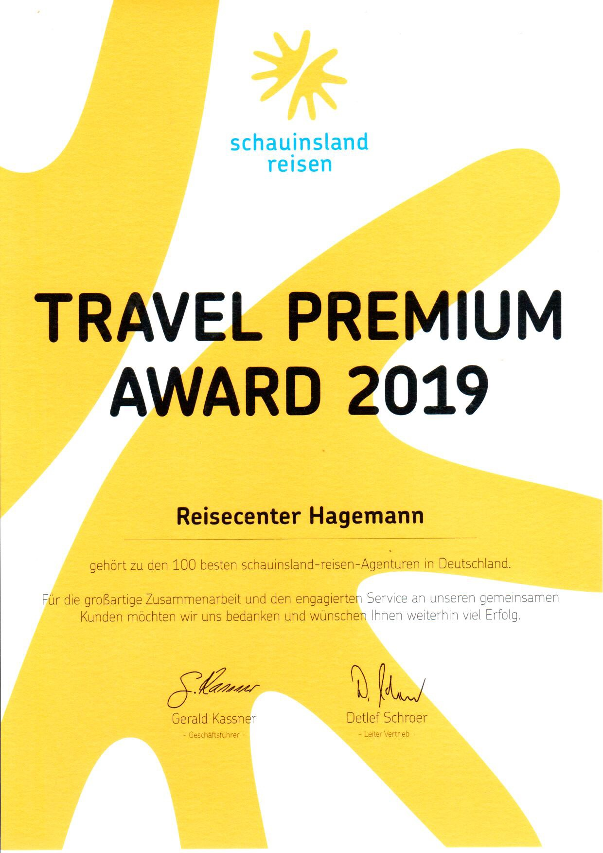 SLR 2019 Travel Premium Award