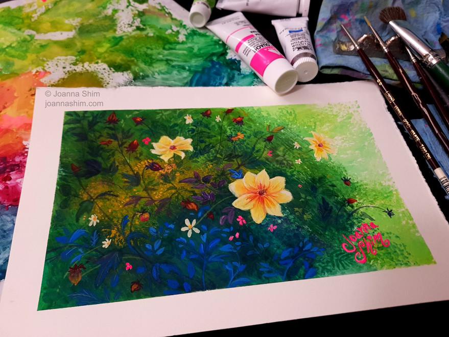 Gouache painting.