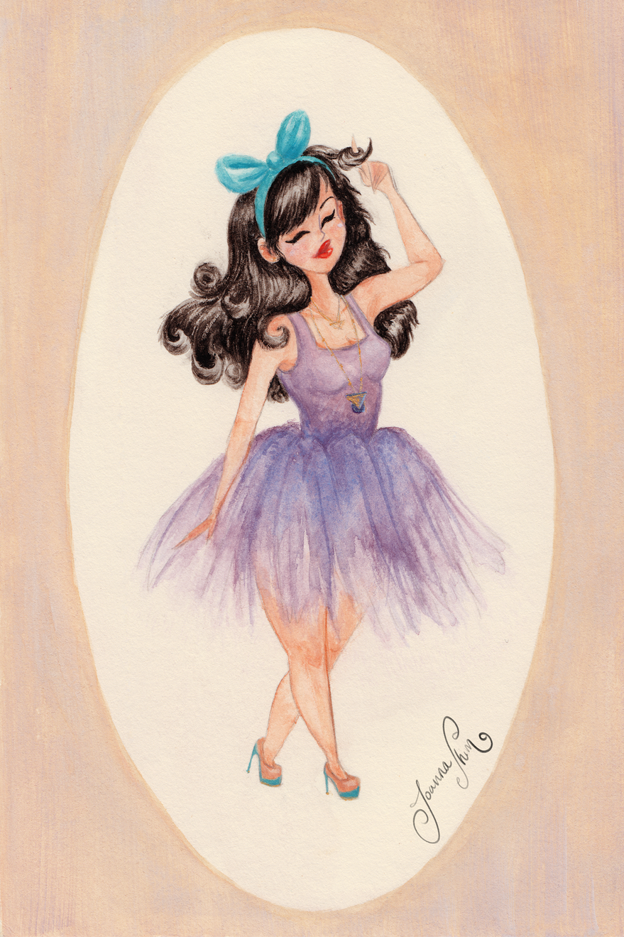 love a tulle skirt, wanted to incorporate them into my paintings