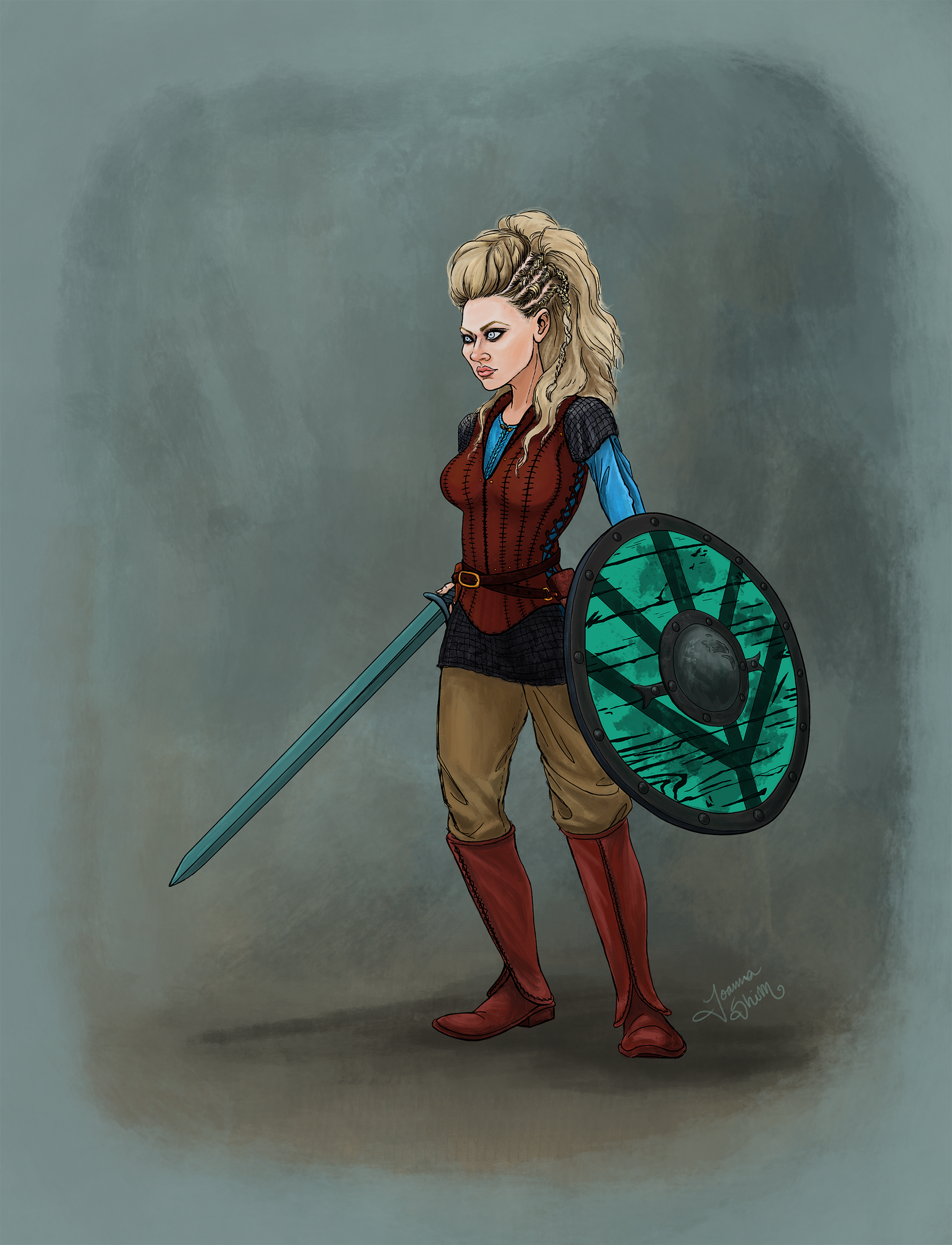 Lagertha from the show Vikings
