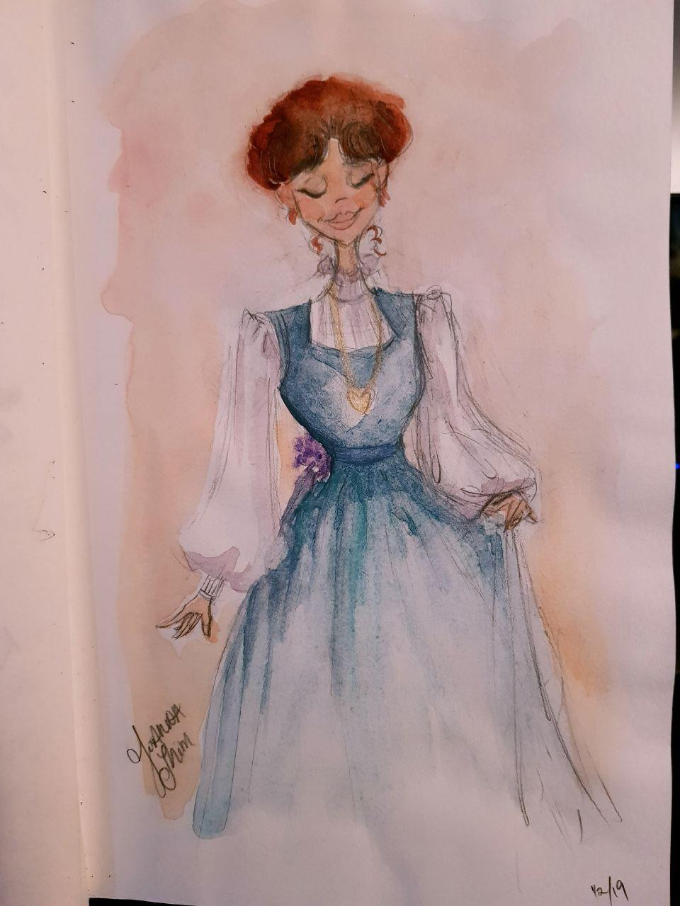 Watercolor painting. Felt inspired while rewatching one of my favorite movies, My Fair Lady.