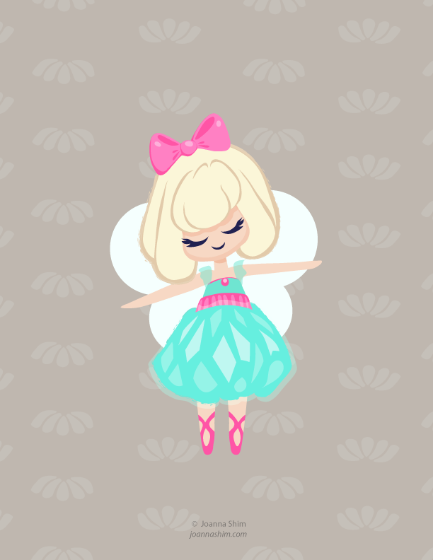 having fun designing a fairy character