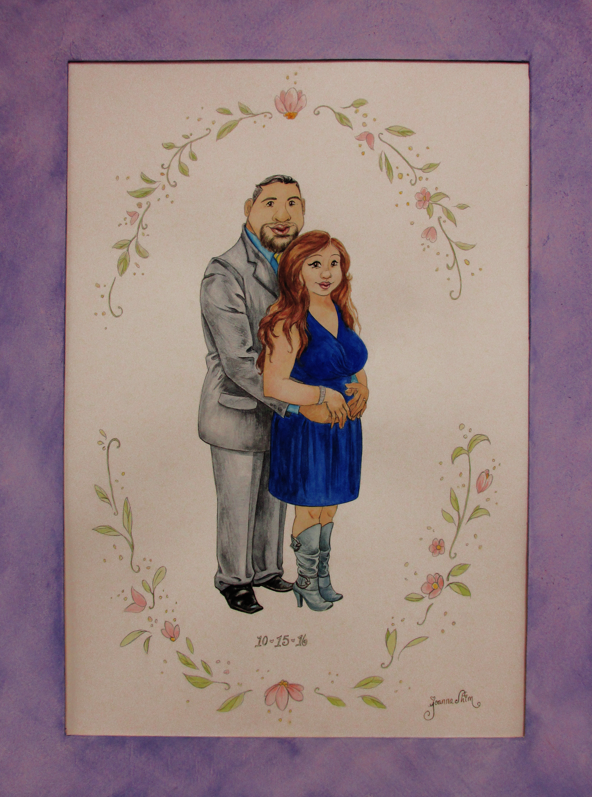 My friend commissioned me to paint a wedding anniversary gift for her parents.