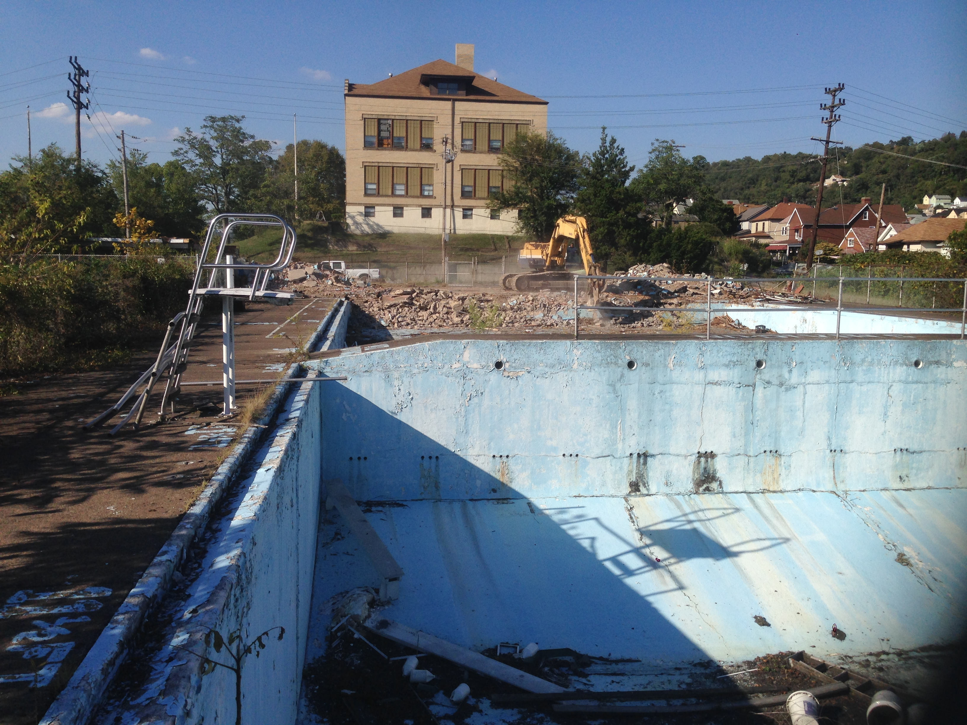 Glassport public pool demolition
