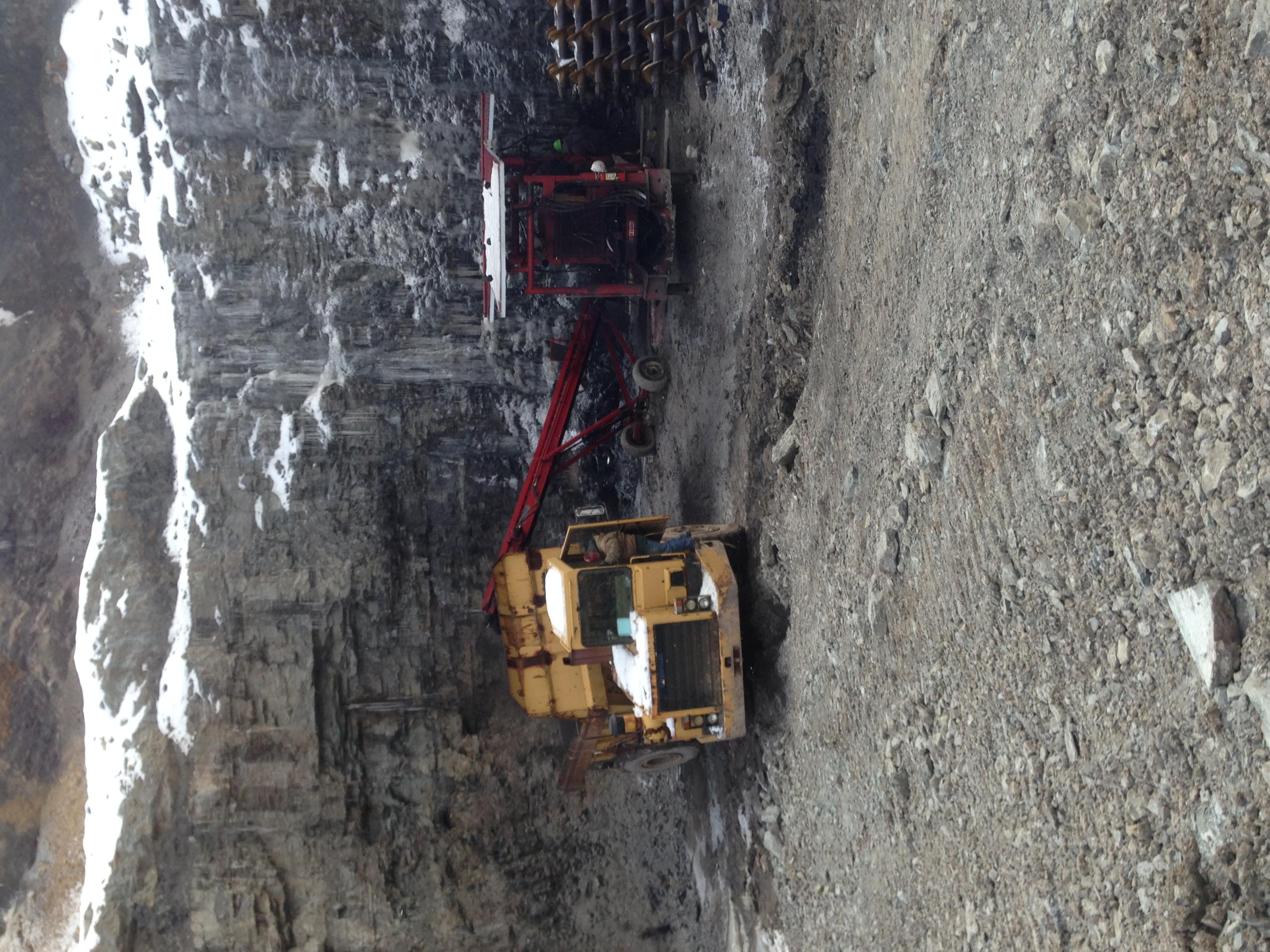 Strip mine drilling
