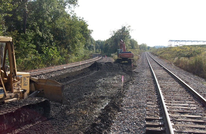 Rail bed construction