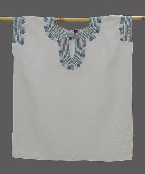 Blusa Chamula Antigua azul