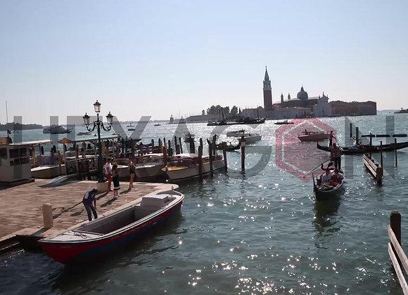 Timelapse: Tráfico de góndolas en Venecia