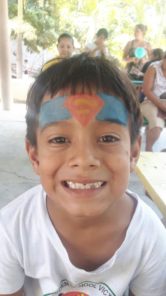 Face painting during our Traditional Games Day