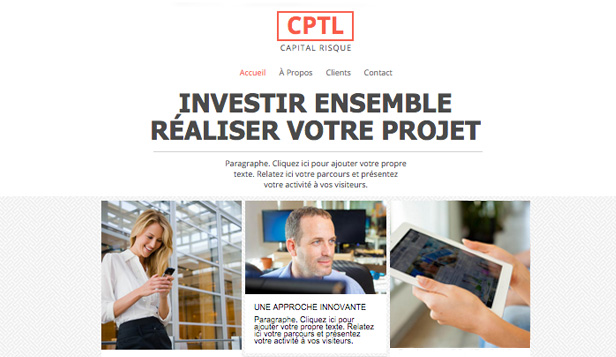 Droit et Finance website templates – Capital Risque