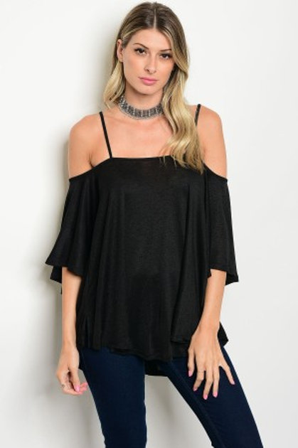 Black Off-the-Shoulder Blouse