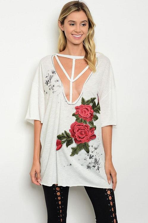 Sexy Flowy Rose Tee