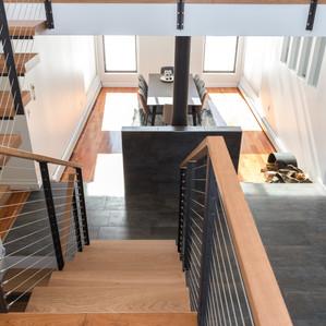 Modern staircase & hearth