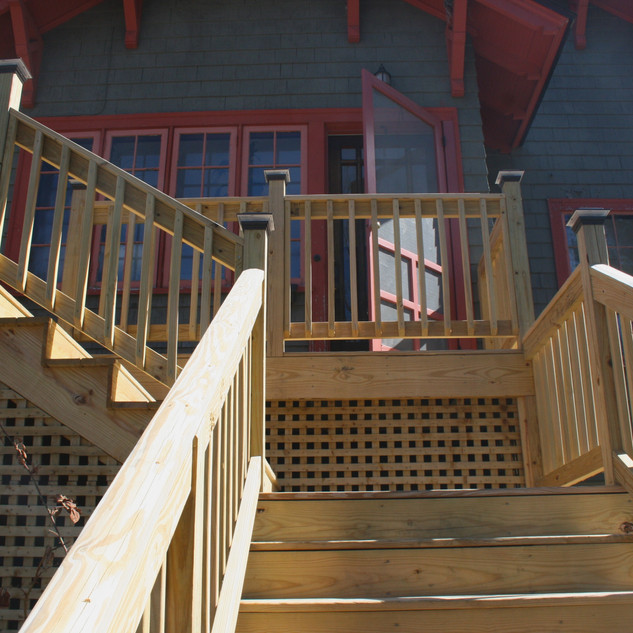 Residential deck & entry steps