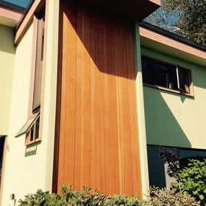 Douglas Fir facade