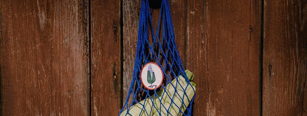 Блакитна сумка-сітка для діток