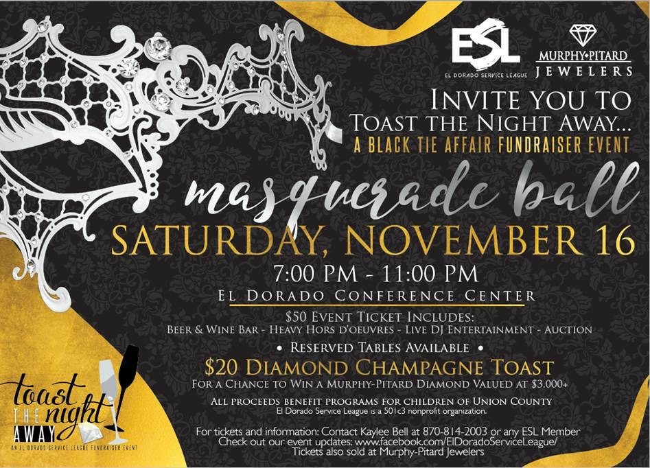 Who Doesn't love to get dressed up every once in a while? Put on some fancy clothes and dancing shoes and Toast the Night Away with us! This is always such a fun event!