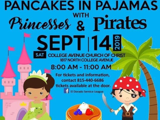 Pancakes in Pajamas with Princesses and Pirates