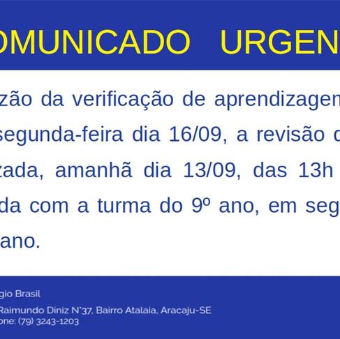 Comunicado Urgente!