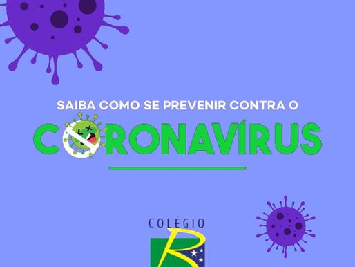 Saiba como se prevenir contra o COVID-19