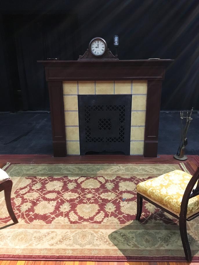 Stage Door, Fireplace