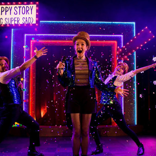 The award winning musical A Super Happy Story (About Feeling Super Sad) returned for a filmed special at Wilton's Music Hall