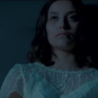 Maryam Grace in the trailer for feature film The Postcard Killings