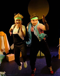 Production shot from Clown-Hearted at the Vault Festival