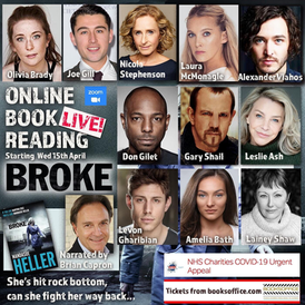 Lainey joins Leslie Ash and Nicole Stephenson in the cast of 'Broke' a live book reading on 15th April