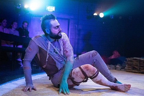 As Caliban in The Tempest