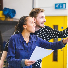 Elliot Pritchard in rehearsals for The Snow Queen at the Trinity Theatre