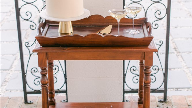 Scallop Antique Tray Table