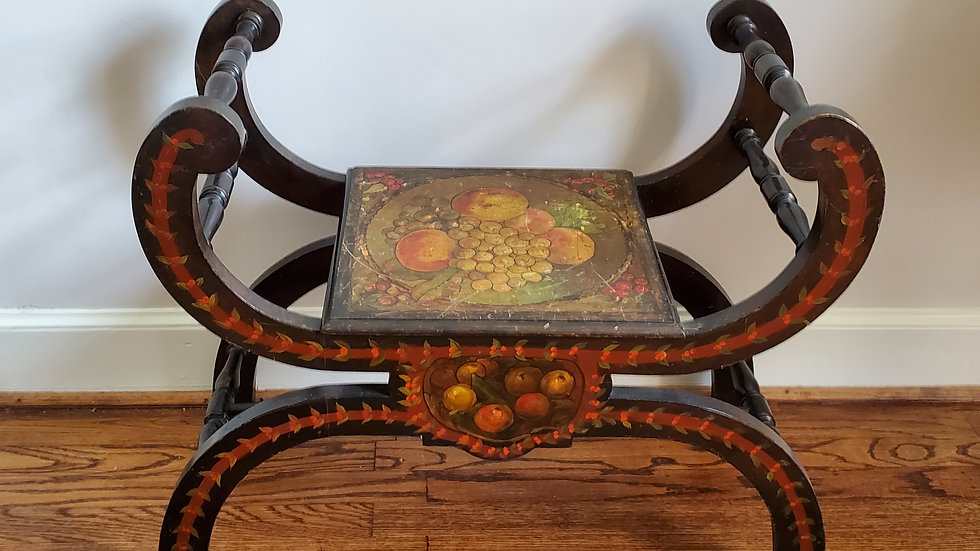 French Bench - Handpainted Antique
