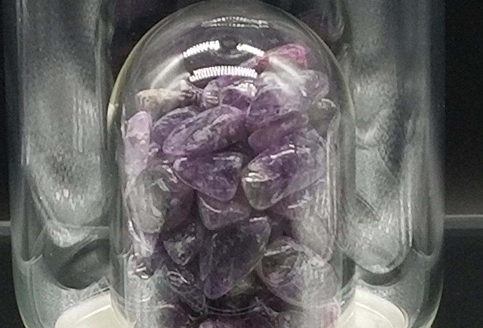 Amethyst  -Molecular Transformation- Glass Bottle w/ Protective Sleeve