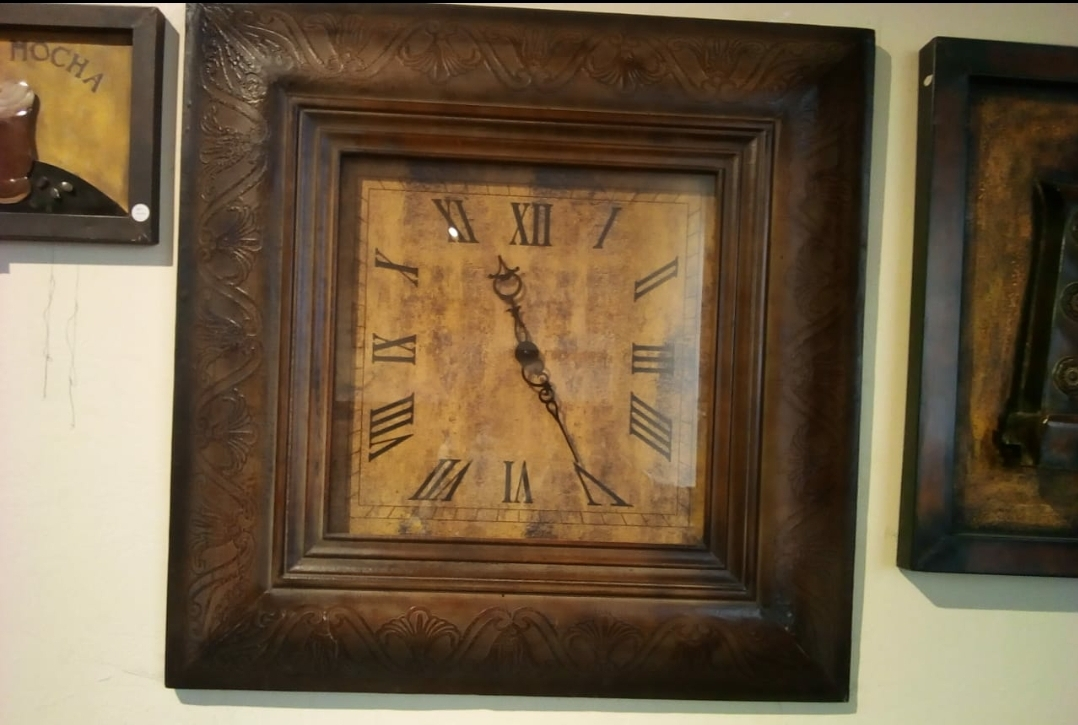Big Square Wooden wall Clock