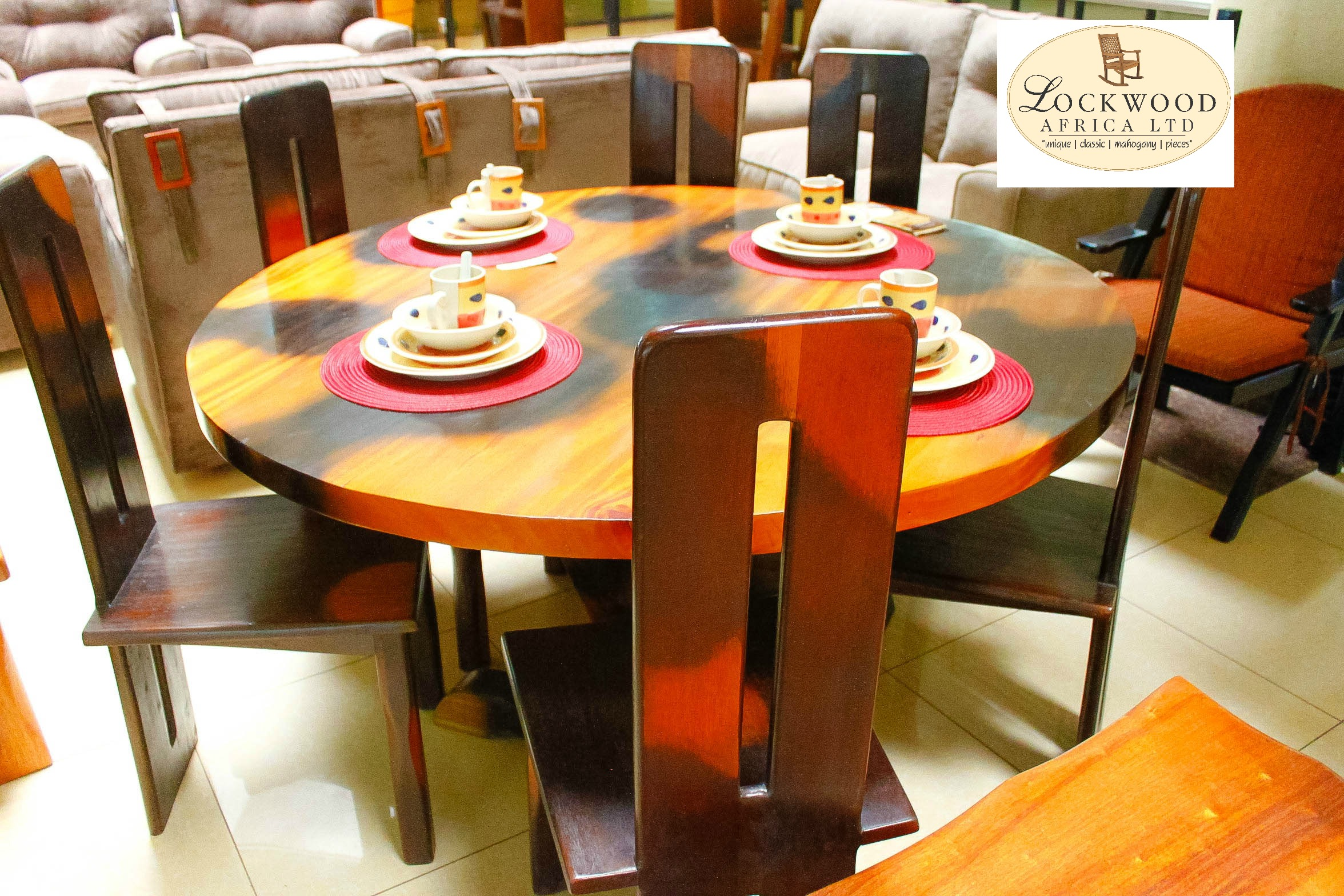6 Seater Round Dining Set